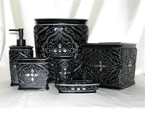 black bling bathroom accessories black bling diamante