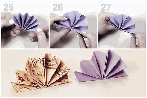 origami fan origami standing fan napkin fold tutorial