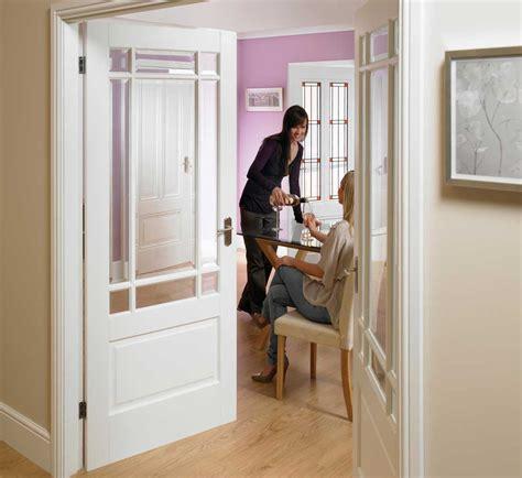 white interior door with glass downham glazed white doors