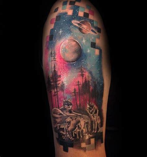 60 pixel tattoo designs for men pixelated ink ideas