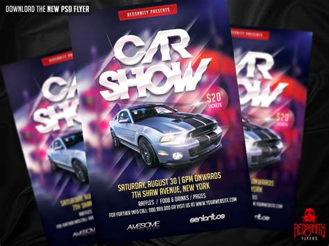 Car Wallpapers Free Psd Flyer by Car Show Flyer Template Psd Free Driverlayer Search Engine