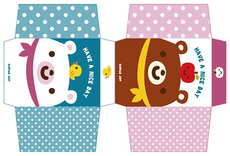 kawaii paper crafts kawaii box papercraft