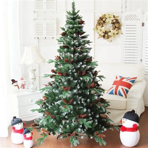 frosted tree with pine cones and berries 1 8m 6ft delux frosted artificial tree