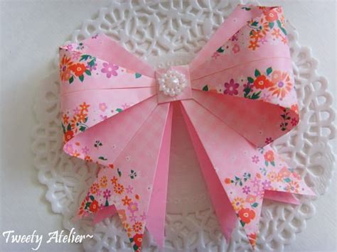 paper ribbon crafts paper crafts origami ribbon bow tutorial crafts ideas