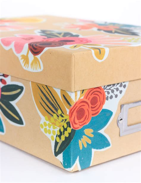 decoupage cardboard boxes diy floral decoupage storage box the crafted