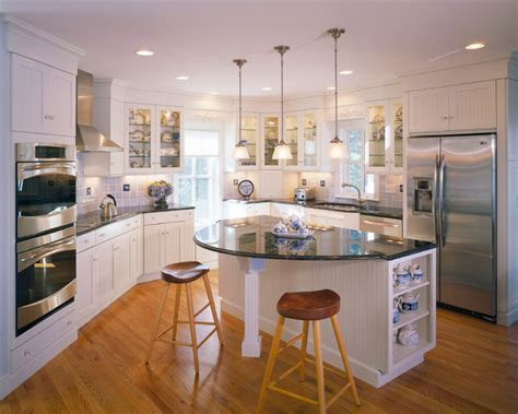 houzz kitchens with islands seapine cottage traditional kitchen boston by