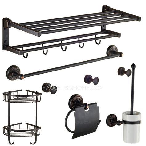 rubbed bronze bathroom accessories set foldable black rubbed bronze 6 bathroom