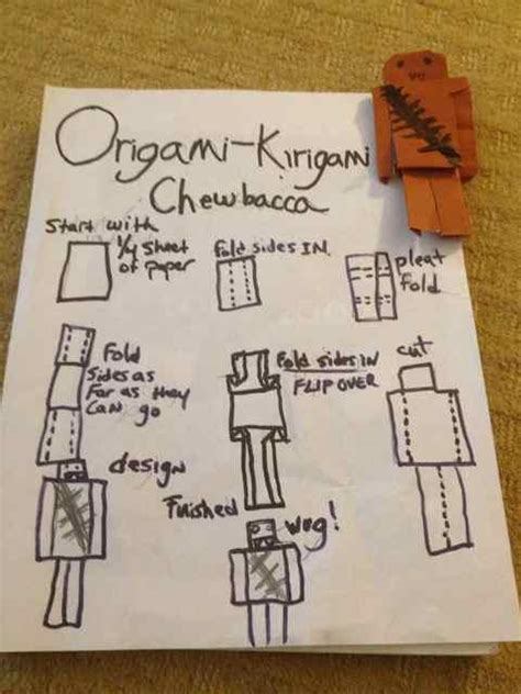 how to make an origami chewbacca origami yoda wookie paper comot