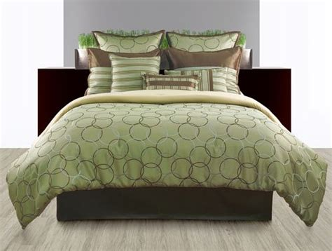 brown and green comforter sets 9pc luxury bedding set bed in a bag comforter sets modern