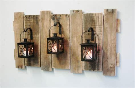 deco wall decor farmhouse style pallet wall decor with lanterns