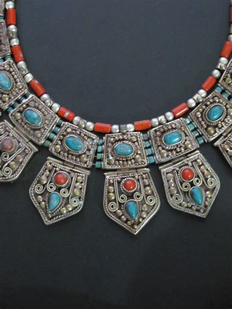 nepal jewelry unique nepalese antiqued tribal jewelry necklace