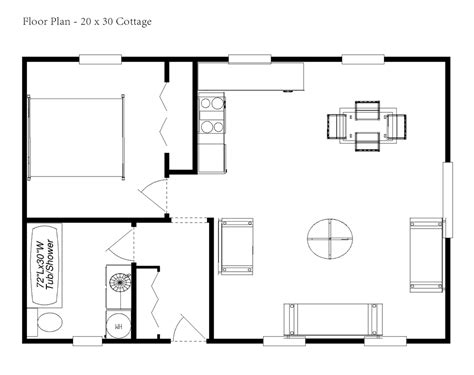 house plans for cottages one bedroom cottage floor plans