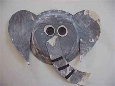 elephant paper craft paper plate elephant craft preschool items juxtapost