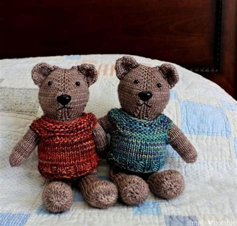 how to knit a simple teddy textured baby hats allfreeknitting