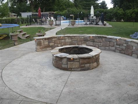 concrete pits accessorize your patio with a concrete pit design
