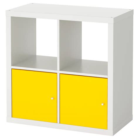 shelving unit with doors kallax shelving unit with doors white yellow 77x77 cm ikea