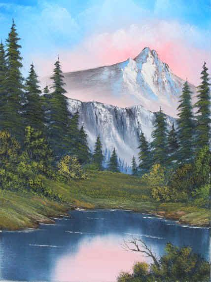 bob ross paintings mountains bob ross mountain painting wallpaper