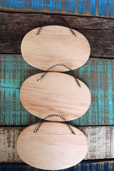 unfinished craft projects 3 oval wood signs with wire hangers 5 1 4 inches wood crafts