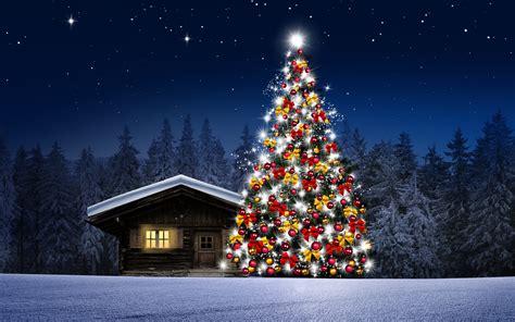 imagenes de navidad arboles fondo de pantalla arbol de navidad casita noche hd