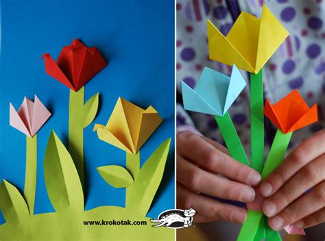 origami pop up flower krokotak pop up flower card