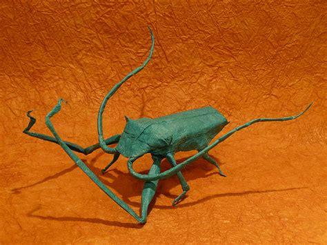 origami beetle longhorn beetle by robert lang
