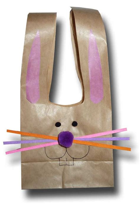 paper bag bunny craft paper crafts for children 187 easter bunny paper bags