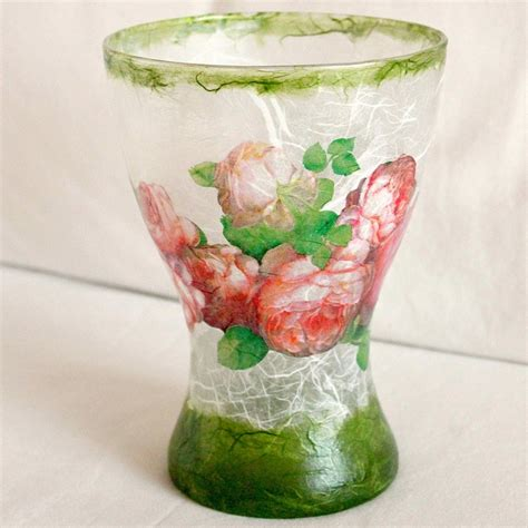 decoupage on glass vase glass vase decoupage decoupage it
