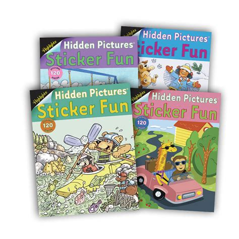 highlights picture books pictures 174 sticker 4 book set highlights for