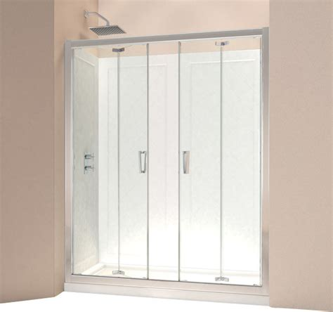 bi fold shower door frameless dreamline butterfly frameless bi fold shower door and