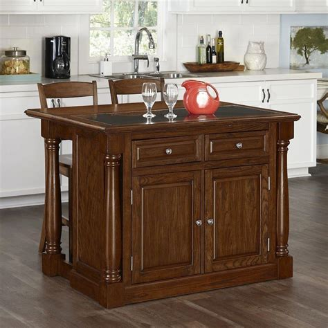 kitchen islands oak monarch oak kitchen island with seating 5006 9458 the home depot