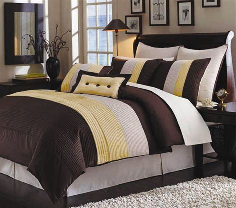 yellow and brown comforter set yellow and brown bedspread brown