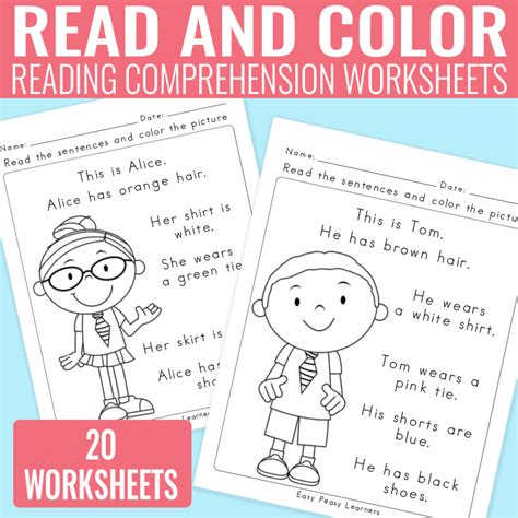 one free read comprehension worksheets for grade 1 free reading