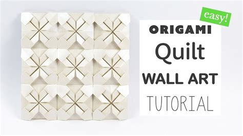 origami wall diy easy origami quilt wall tutorial diy paper kawaii