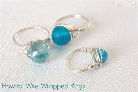 how to make rings jewelry wire rings tutorial how to make wire wrapped bead rings