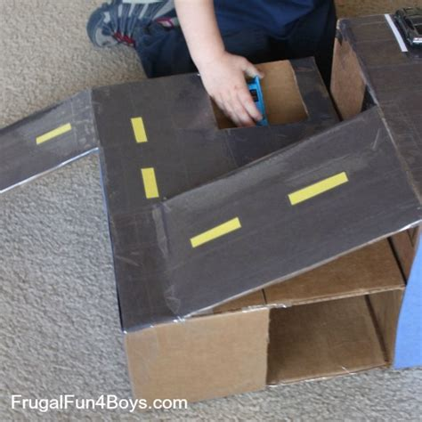 shoe box crafts for cardboard box wheels car garage with rs