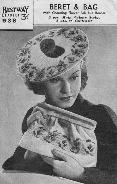 vintage knit vintage knitted bag knitting patterns available