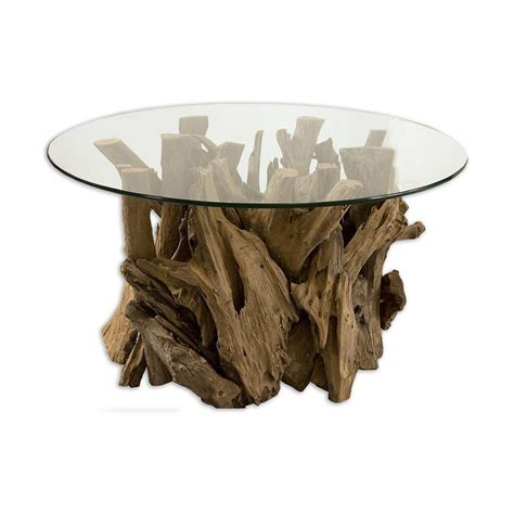 driftwood coffee tables uttermost 25519 driftwood glass top coffee table atg stores