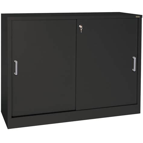 storage cabinet with sliding doors sliding door storage cabinet 29 inch high in storage