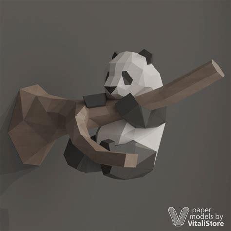 paper craft panda diy papercraft panda paper craft panda diy gift kit wall
