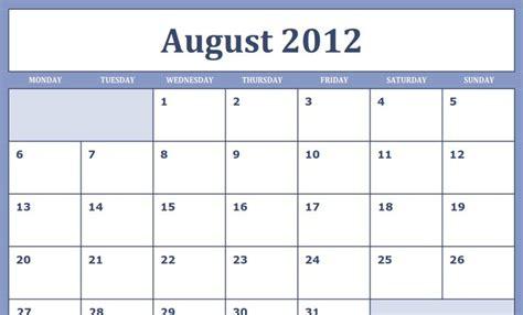 aug 2012 calendar printable new calendar template site