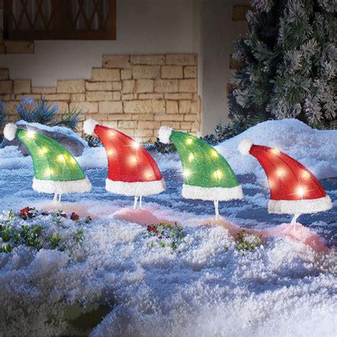 pathway decorations santa hat pathway lights for driveway walk