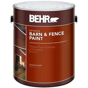 home depot paint and stain sale behr 1 gal exterior barn and fence paint 02501 the