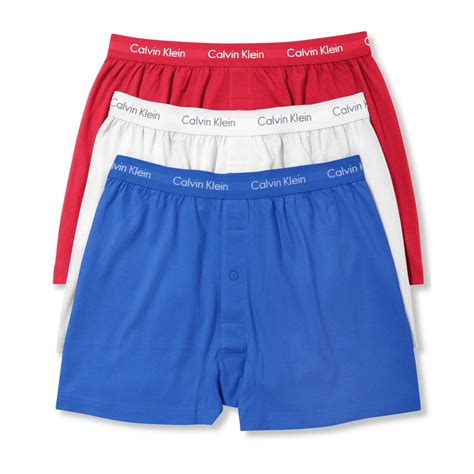 knit boxers calvin klein american icon cotton basic knit boxer 3 pack