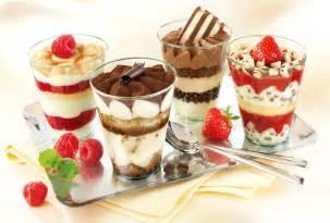 chocolate desserts in a glass wallpaper