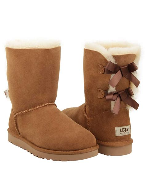 ugg boots ugg 174 s bailey bow boot in chestnut