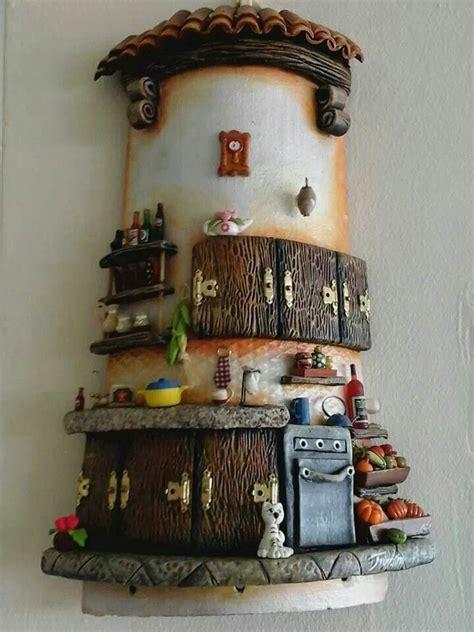 decoracion de tejas manualidades resultado de imagen de tejas decoradas cocinas adornos