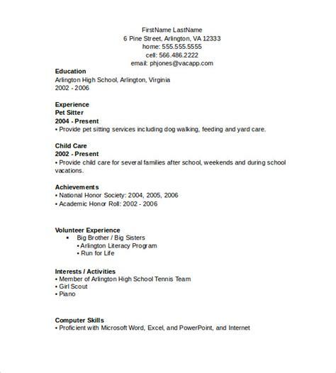 resume format samples word word resume templates 9 samples examples format