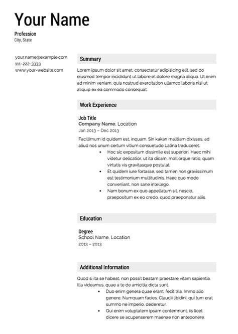 resume layout templates resumes templates free learnhowtoloseweight net