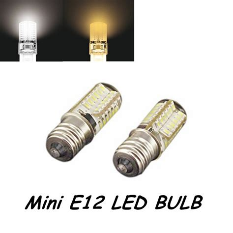 110v led light bulb 5pcs 110v 3w 3014 smd led chips mini e12 led light bulb