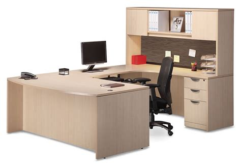 u shaped desk u shaped desk with hutch and tackboard visconti